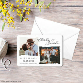 Brushstroke 3 Save The Date Magnet With Envelope