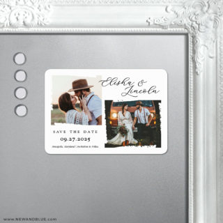Brushstroke 5 Save The Date Fridge Magnet