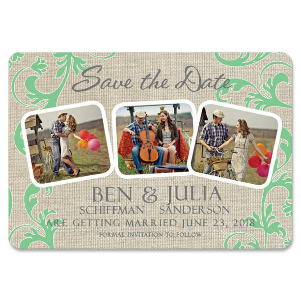Burlap Dreams 1 Save The Date Magnets1