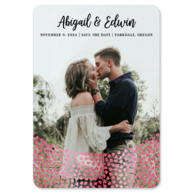 Bursting Hearts 1 Foil Save The Date Magnets
