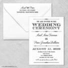 Calliope Wedding Invitation With Envelope