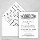 Calliope Wedding Invitation With Envelope Liner