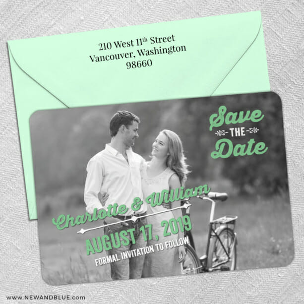 Cape Cod 5 Save The Date With Optional Color Envelope1