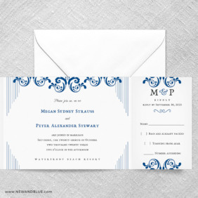 Celebrate All In One Wedding Invitation With RSVP Postcard