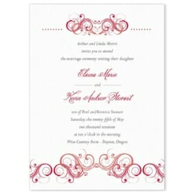 Central Park Wedding Invitation