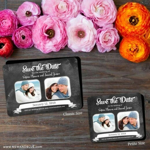 Chalk It Up To Love 2 Save The Date Magnet Classic And Petite Size