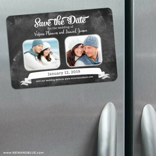 Chalk It Up To Love 3 Refrigerator Save The Date Magnets