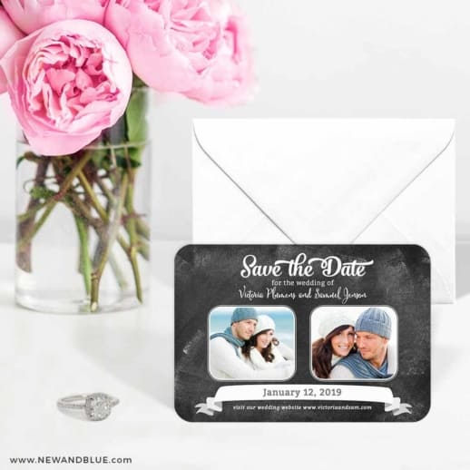 Chalk It Up To Love 6 Wedding Save The Date Magnets