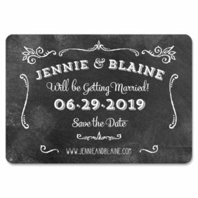 Chalkboard 1 Save The Date Magnets1