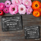 Chalkboard 2 Save The Date Magnet Classic And Petite Size1