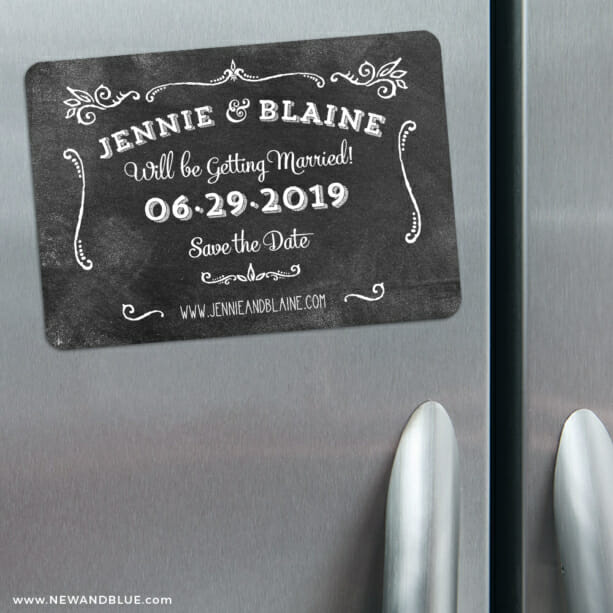 Chalkboard 3 Refrigerator Save The Date Magnets1