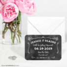 Chalkboard 6 Wedding Save The Date Magnets1