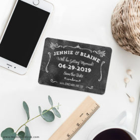 Chalkboard 7 Wedding Save The Date Magnets1