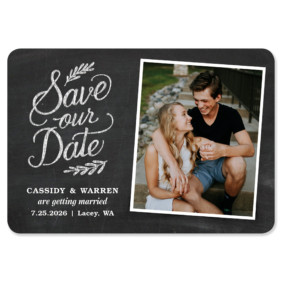 Cheerful Chalkboard 1 Save The Date Magnets