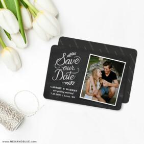 Cheerful Chalkboard 4 Wedding Magnet