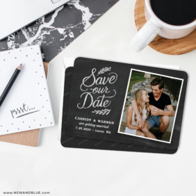 Cheerful Chalkboard 6 Wedding Save The Date Magnets With Envelope