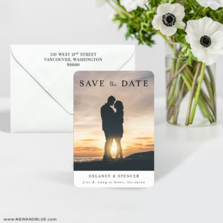 Cherished 7 Wedding Save The Date Magnet