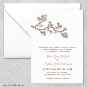 Cherry Tree 2 Invitation And Envelope