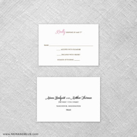 Cherry Tree 6 Reception Card And Rsvp Card