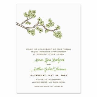 Cherry Tree Wedding Invitation