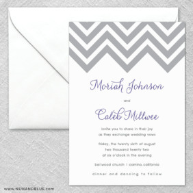 Chevron 2 Invitation And Envelope