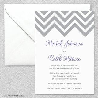 Chevron 2 Invitation And Envelope