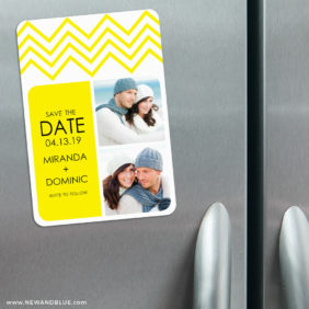 Chevron 3 Refrigerator Save The Date Magnets1