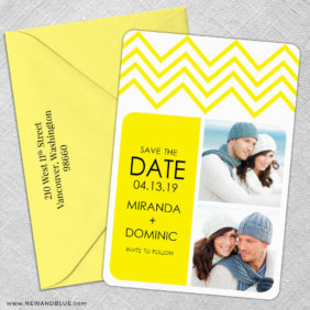 Chevron 5 Save The Date With Optional Color Envelope1