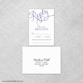 Chevron 6 Reception Card And Rsvp Card