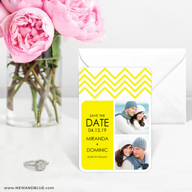 Chevron 6 Wedding Save The Date Magnets1