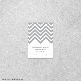 Chevron 7 Reception Card