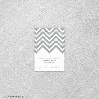 Chevron 7 Reception Card
