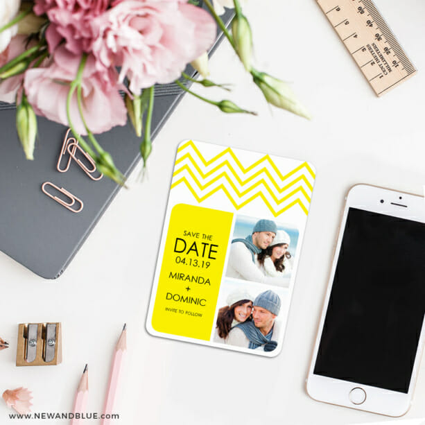 Chevron 7 Wedding Save The Date Magnets1