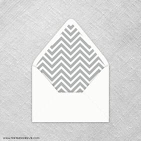 Chevron 9 Envelope Liner