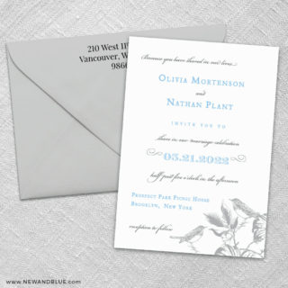 Chirp 3 Invitation And Color Envelope