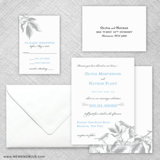 Chirp 5 Wedding Invitation And Rsvp Card