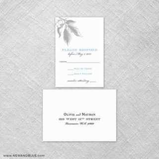 Chirp 6 Reception Card And Rsvp Card