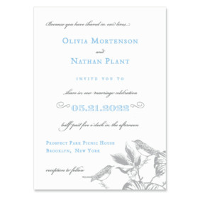 Chirp Invitation Shown In Color Blue