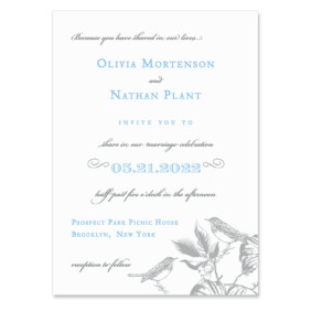Chirp Wedding Invitation