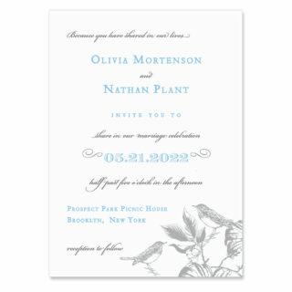 Chirp Wedding Invitation