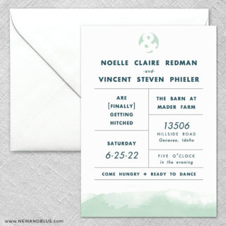 Chroma 2 Invitation And Envelope