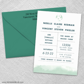 Chroma 3 Invitation And Color Envelope