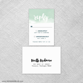 Chroma 6 Reception Card And Rsvp Card