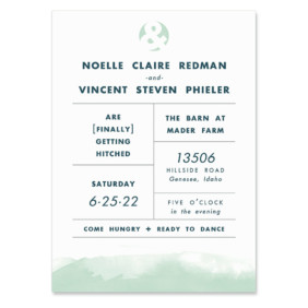 Chroma Wedding Invitation