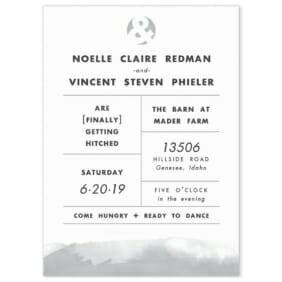 Chroma Wedding Invitation