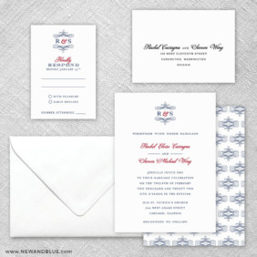 Coconut Grove 5 Wedding Invitation And Rsvp Card