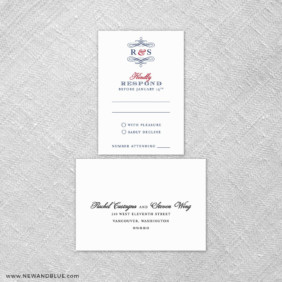 Coconut Grove 6 Reception Card And Rsvp Card