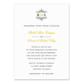 Coconut Grove Wedding Invitation