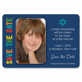 Colors Bar Mitzvah 1 Save The Date Magnets1