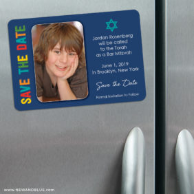 Colors Bar Mitzvah 3 Refrigerator Save The Date Magnets1